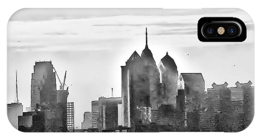 Philadelphia IPhone X Case featuring the photograph Philadelphia by Bill Cannon
