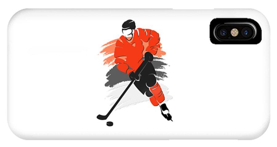 Flyers IPhone X Case featuring the photograph Philadelphia Flyers Player Shirt by Joe Hamilton