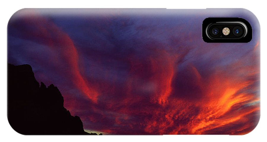 Arizona IPhone X Case featuring the photograph Phoenix Risen by Randy Oberg