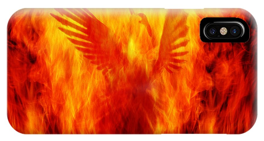 Phoenix IPhone X Case featuring the photograph Phoenix Rising by Andrew Paranavitana