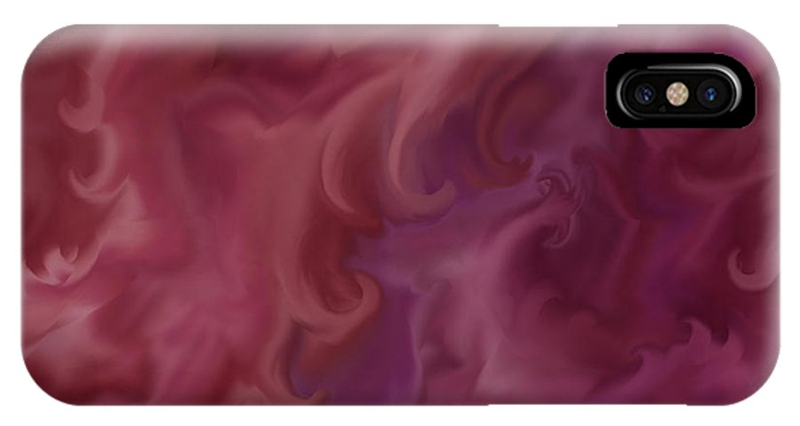Fantasy IPhone X Case featuring the painting Phoenix Rising by Anne Norskog