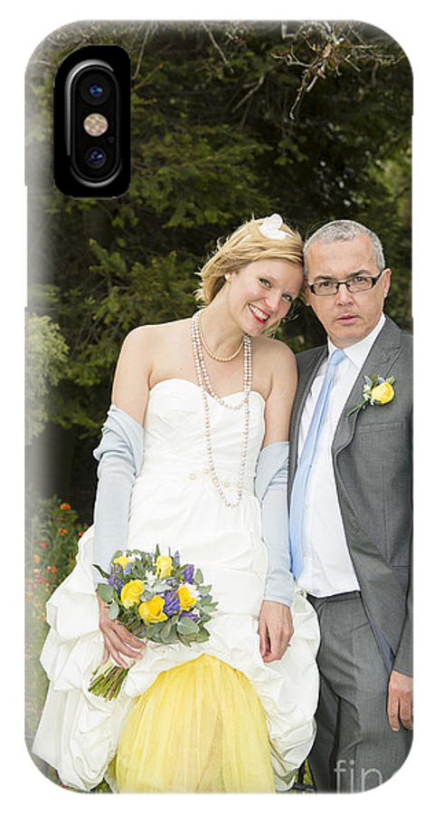 Katie & Steve's Wedding 22nd May 2015 City Hall Cardiff. All Photos The Copyright Of Jenny Potter. IPhone X Case featuring the photograph Photo 128 by Jenny Potter