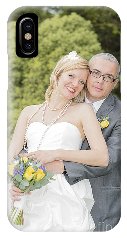 Katie & Steve's Wedding 22nd May 2015 City Hall Cardiff. All Photos The Copyright Of Jenny Potter. IPhone X Case featuring the photograph Photo 140 by Jenny Potter