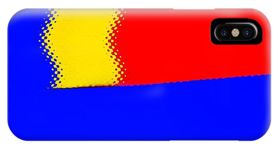 Modern Art IPhone X Case featuring the photograph New Flag by Sal Ovadia