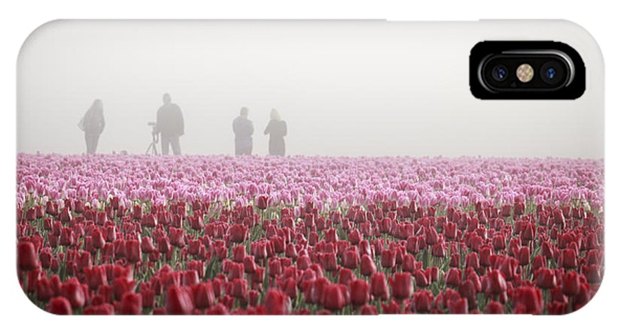 skagit Valley IPhone X Case featuring the photograph Photographers In The Mist by Eric Ewing