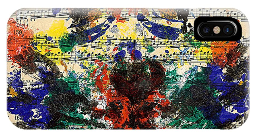 Music IPhone X Case featuring the painting Piano Exercises 1 by Jan Daniels