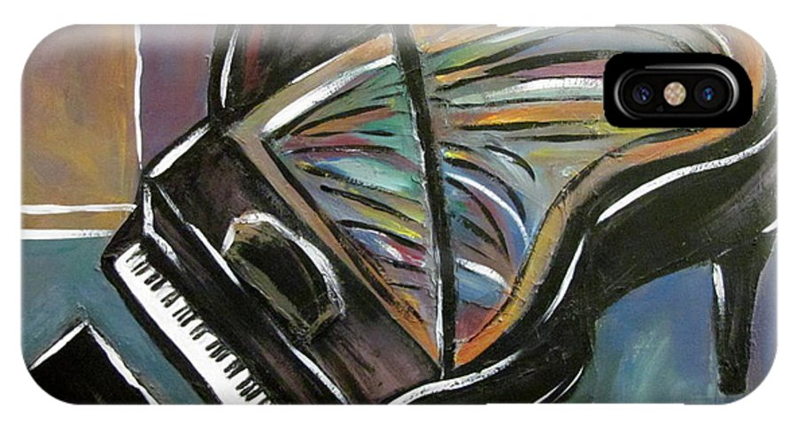 Impressionist IPhone Case featuring the painting Piano With High Heel by Anita Burgermeister