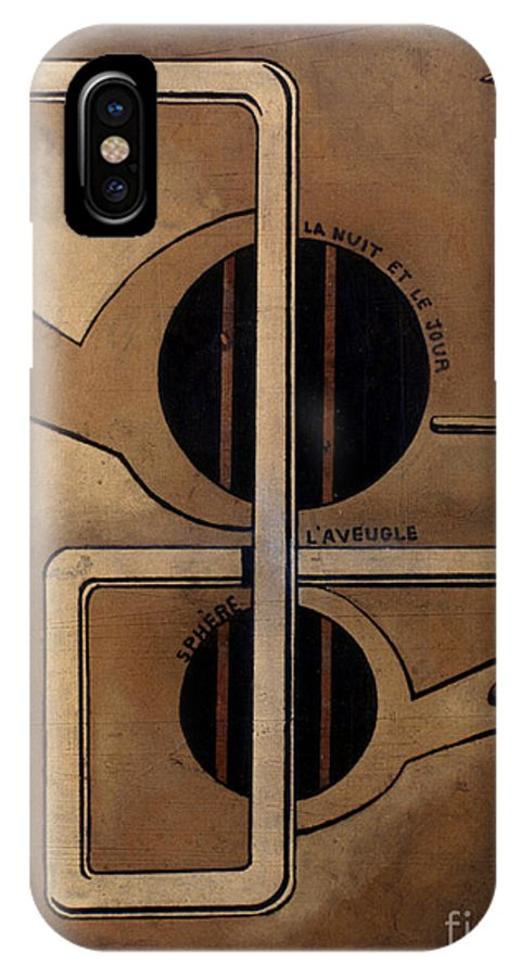 1917 IPhone X Case featuring the photograph Picabia: Cest Clair, C1917 by Granger