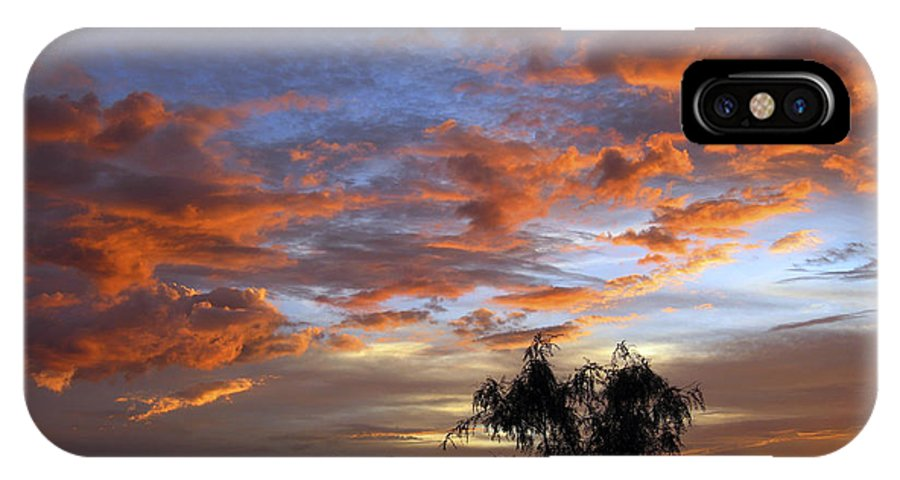 Sunset IPhone X Case featuring the photograph Picacho Peak Sunset II by Kurt Van Wagner