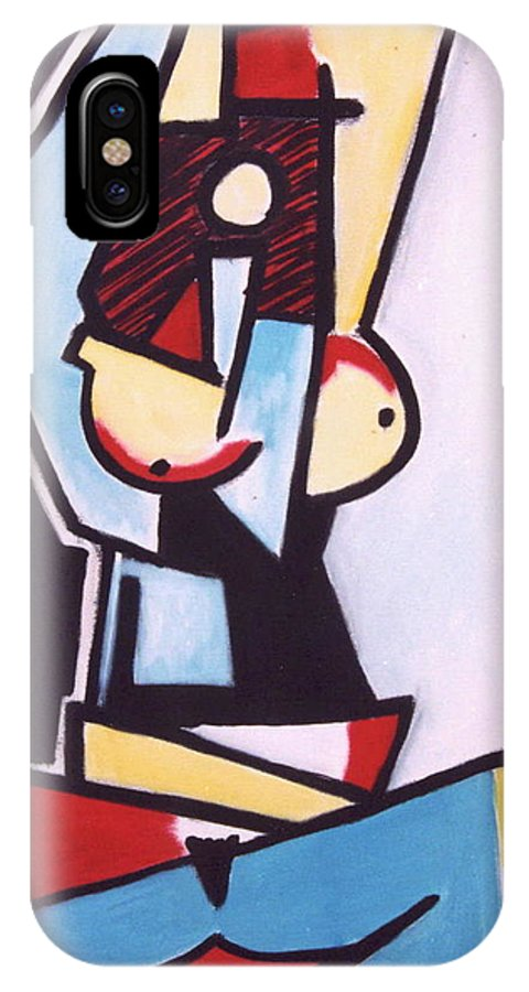 Picasso IPhone X Case featuring the painting Picasso by Thomas Valentine