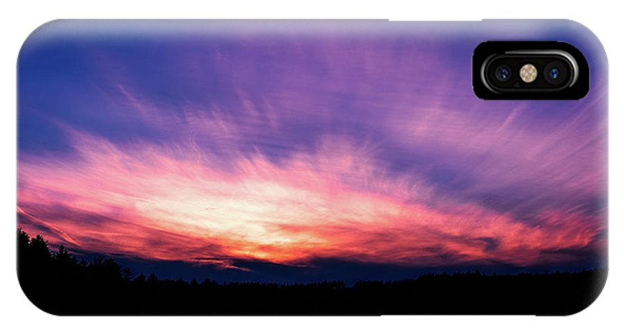 Sunset IPhone X Case featuring the photograph Pickerel Lake by Scott Norris