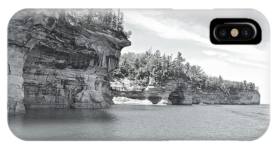 Landscape IPhone X Case featuring the photograph Pictured Rocks Shoreline National Park by Michael Peychich