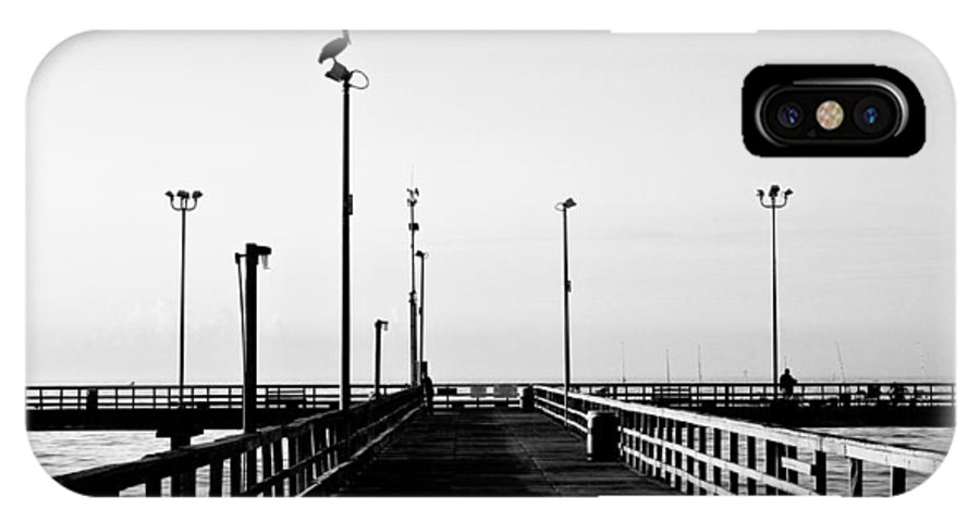 Bird IPhone X Case featuring the photograph Pier And Pelican by Marilyn Hunt