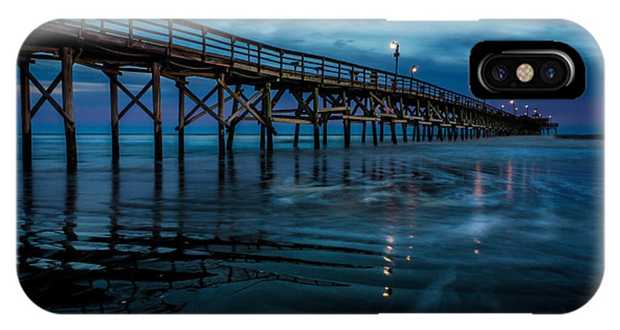 Pier IPhone X / XS Case featuring the photograph Pier At Dusk by David Smith