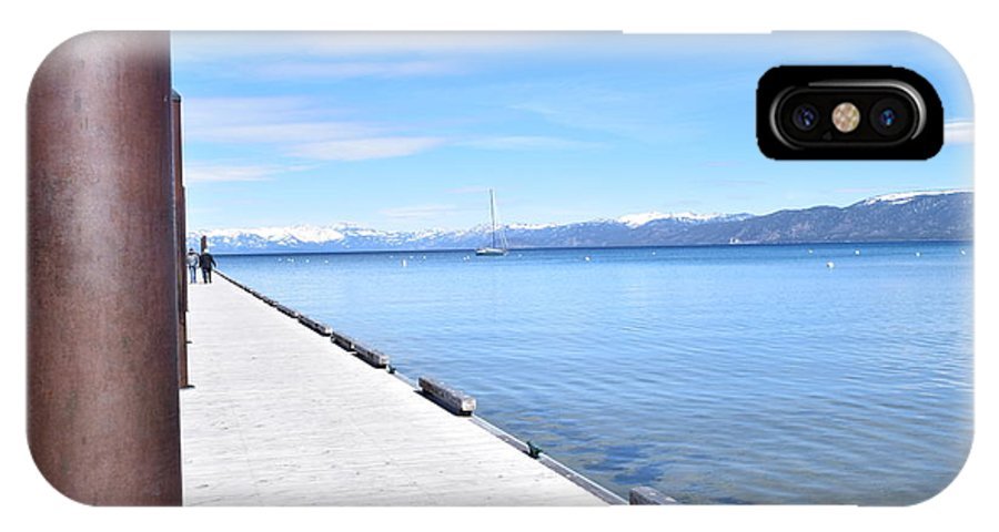 Lake Tahoe IPhone X Case featuring the photograph Pier Posted by Christina McNee-Geiger