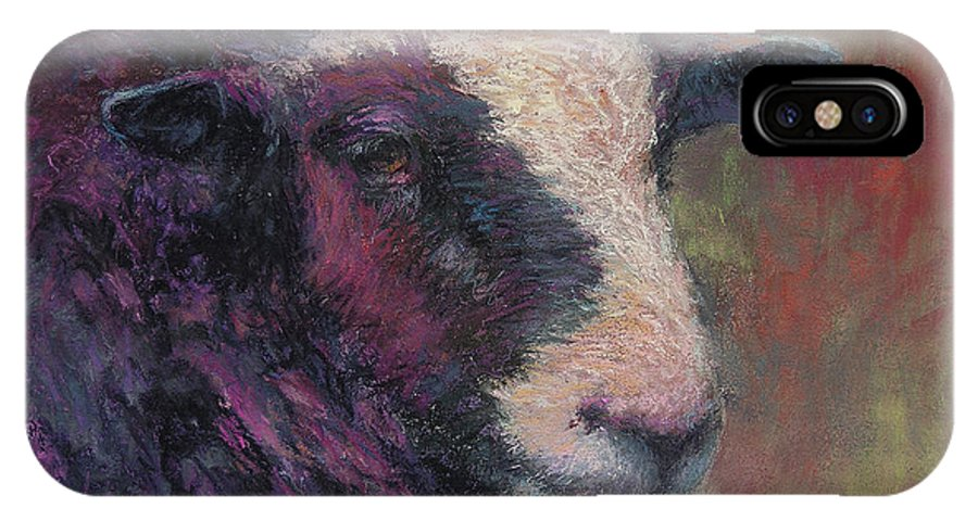 Animals IPhone X Case featuring the painting Pierre by Susan Williamson
