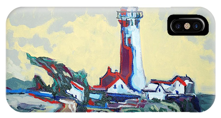 Ligthouse IPhone Case featuring the painting Pigeon Point by Kurt Hausmann