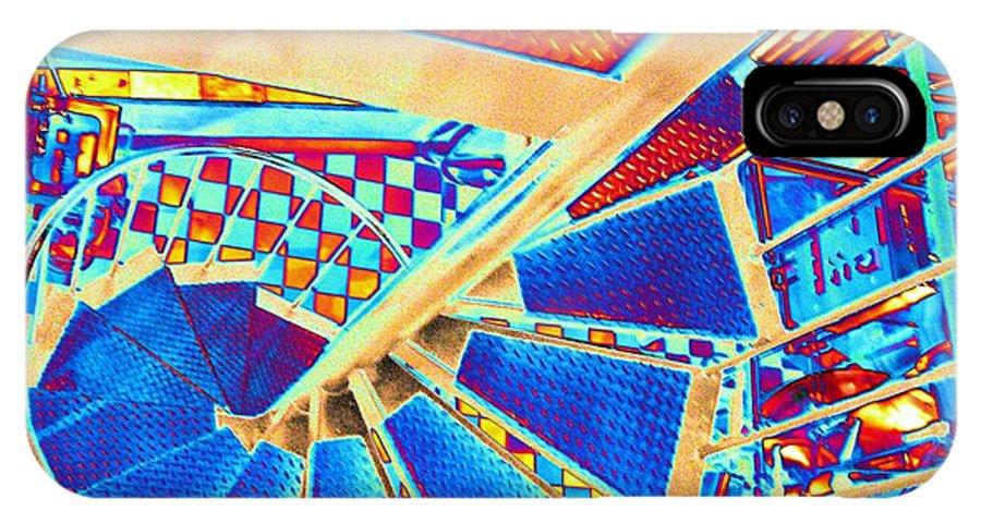 Seattle IPhone X Case featuring the digital art Pike Brewpub Stair by Tim Allen