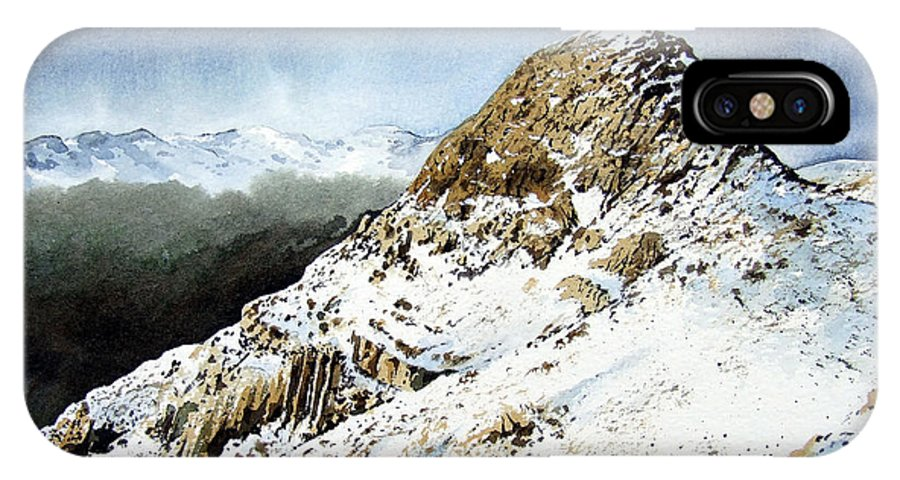 Pike O' Stickle IPhone X Case featuring the painting Pike O' Stickle by Paul Dene Marlor