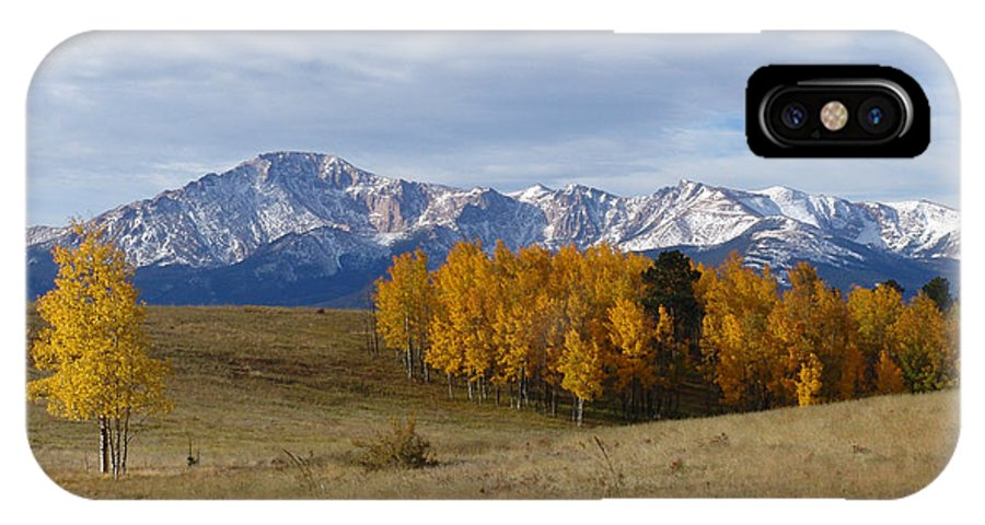 Fall IPhone X Case featuring the photograph Pikes Peak In The Fall by Carol Milisen