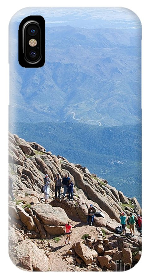 Athletes IPhone X / XS Case featuring the photograph Pikes Peak Marathon And Ascent by Steve Krull