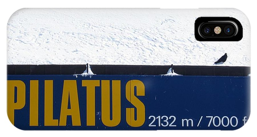 Signage IPhone Case featuring the photograph Pilatus by Dylan Punke