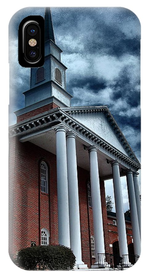 Architecture IPhone X Case featuring the photograph Pillars by Gina Welch
