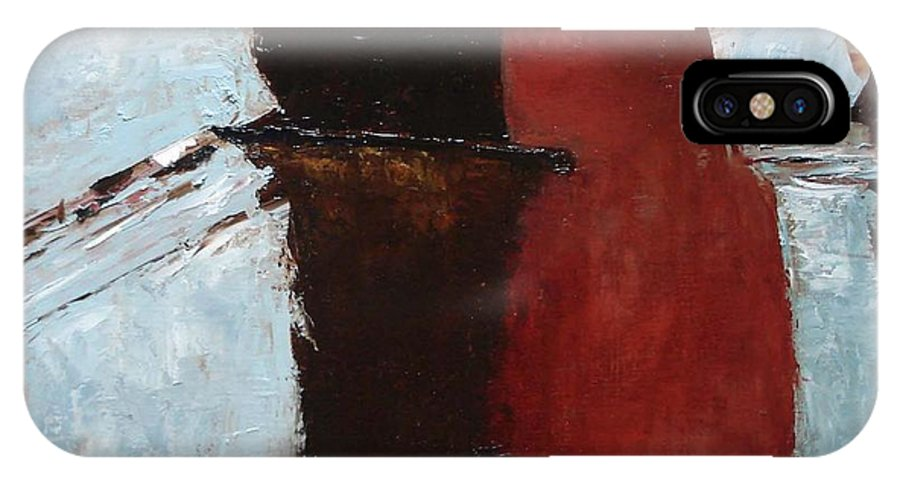 Pillars IPhone X Case featuring the painting Pillars Of Society by Barbara Andolsek