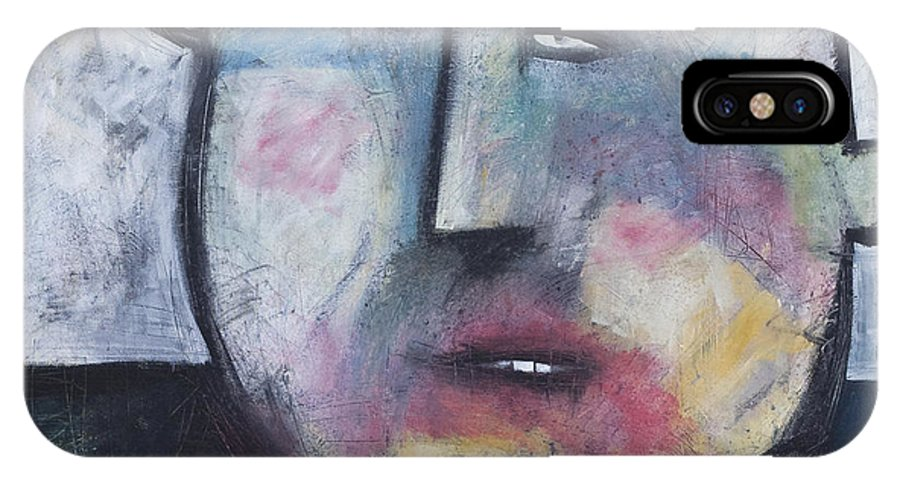 Funny IPhone X Case featuring the painting Pillbox by Tim Nyberg