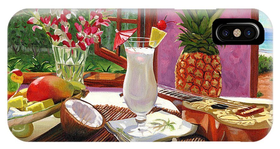Pina Colada IPhone X Case featuring the painting Pina Colada by Steve Simon