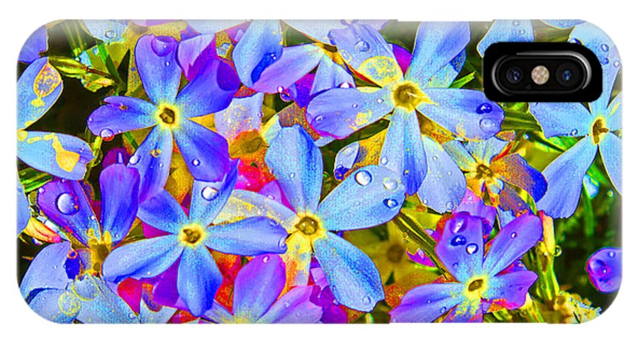 Wildflower IPhone X Case featuring the photograph Pincushion Flower by Heather Coen