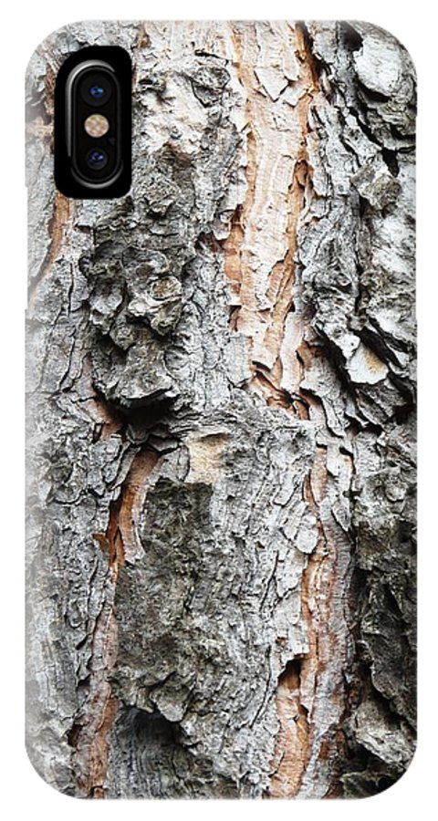 Pine IPhone X Case featuring the photograph Pine Bark by Valerie Ornstein