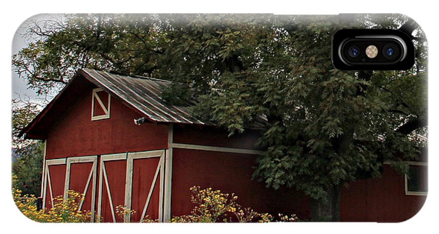 IPhone X Case featuring the photograph Pine Barn by Matalyn Gardner