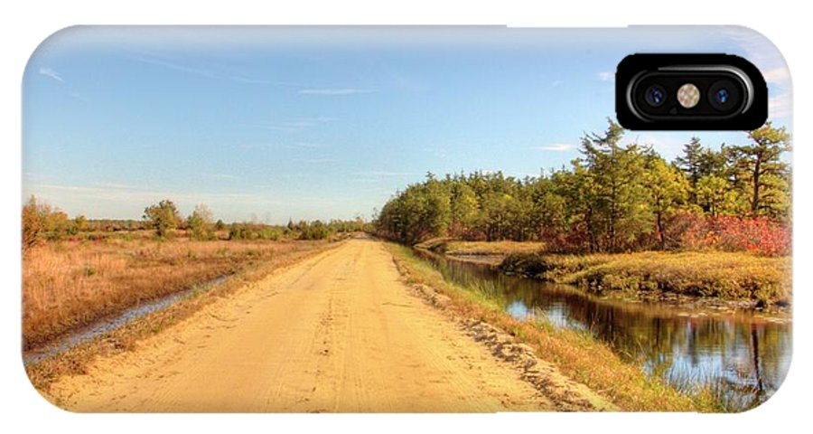 Recent IPhone X Case featuring the photograph Pine Barrens Of New Jersey Cranberry Harvest Bogs by Geraldine Scull