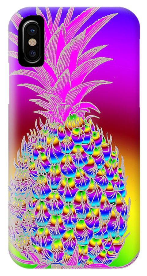 Pineapple IPhone X Case featuring the digital art Pineapple by Eric Edelman