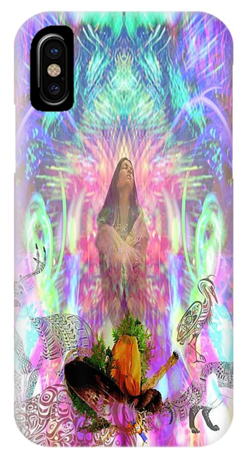 IPhone X / XS Case featuring the digital art Pinga-inuitgoddess by Rich Baker