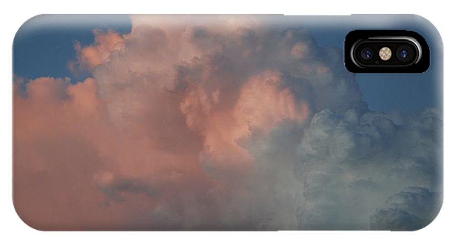 Clouds IPhone X Case featuring the photograph Pink And Grey by Rob Hans