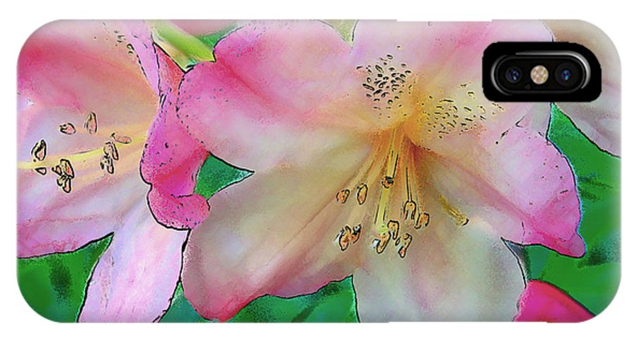 Ebsq IPhone X Case featuring the photograph Pink Azalea by Dee Flouton