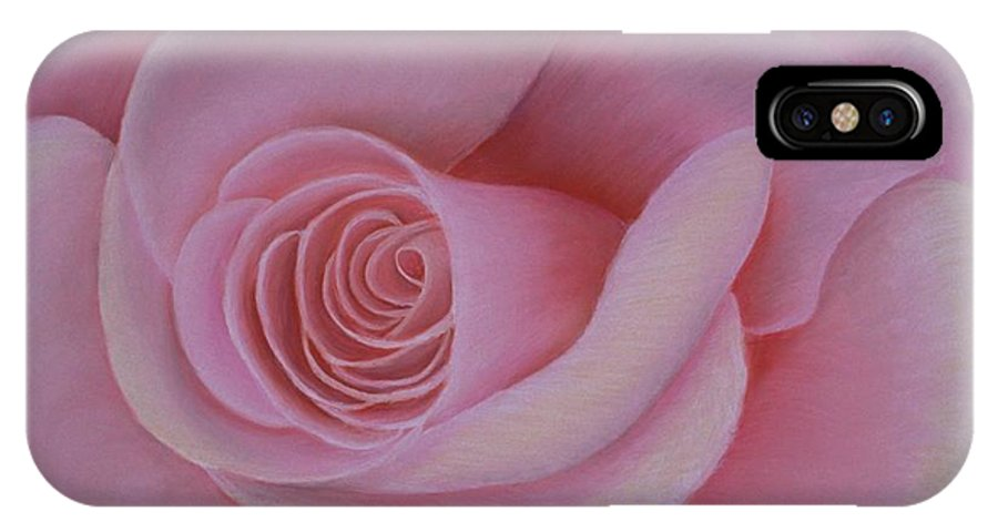Rose IPhone Case featuring the painting Pink Blush by Mary Erbert