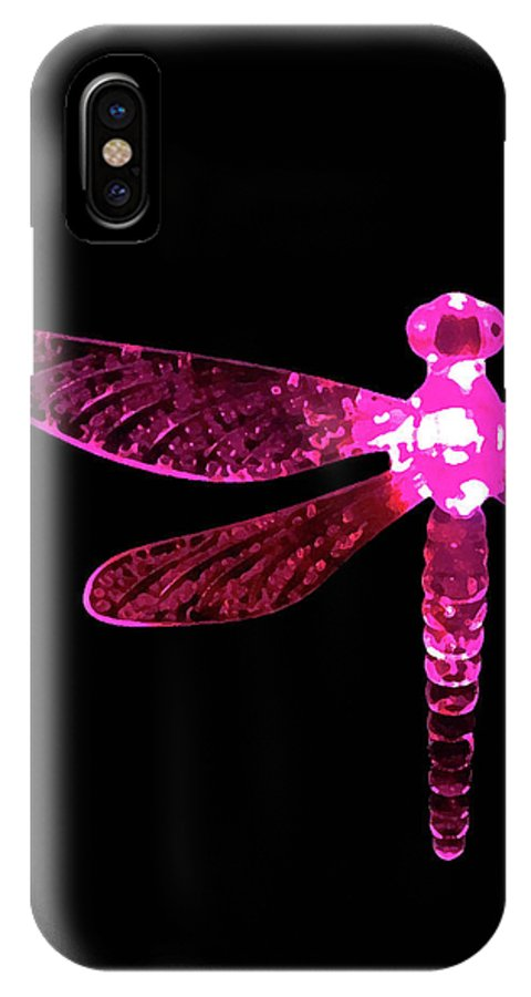 Pink Dragonfly IPhone X Case