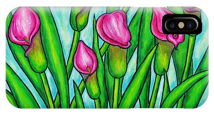 Lisa Lorenz IPhone Case featuring the painting Pink Ladies by Lisa Lorenz
