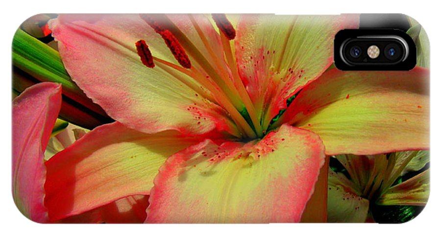 Lily IPhone X Case featuring the photograph Pink Lily by Erin Rednour