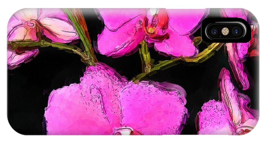Orchid IPhone X Case featuring the photograph Pink Orchids by Dennis Lundell