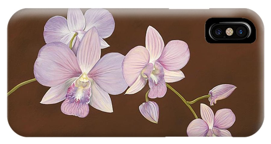 Orchid IPhone Case featuring the painting Pink Orchids by Shawn Stallings