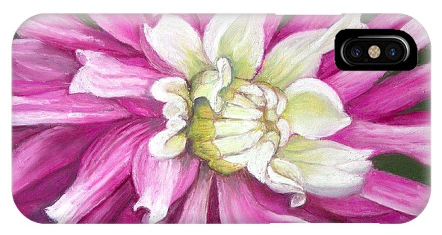 Floral IPhone X Case featuring the painting Pink Petal Blast by Minaz Jantz