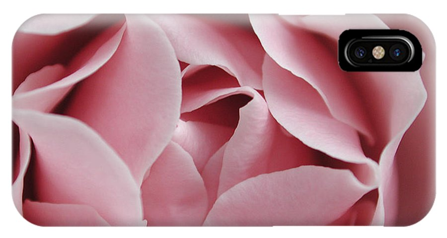 Flower IPhone X Case featuring the photograph Pink Rose by Kathi Shotwell