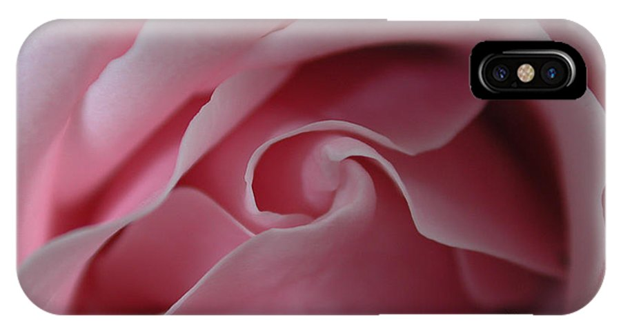 Flower IPhone X Case featuring the photograph Pink Rose Swirl by Kathi Shotwell