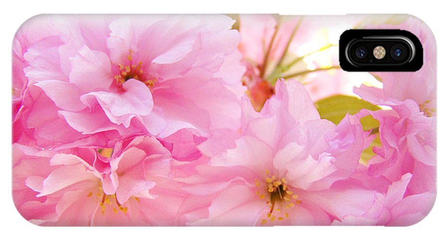 Blossom IPhone X Case featuring the photograph Pink Tree Blossoms Art Prints Spring Blossoms Baslee Troutman by Baslee Troutman