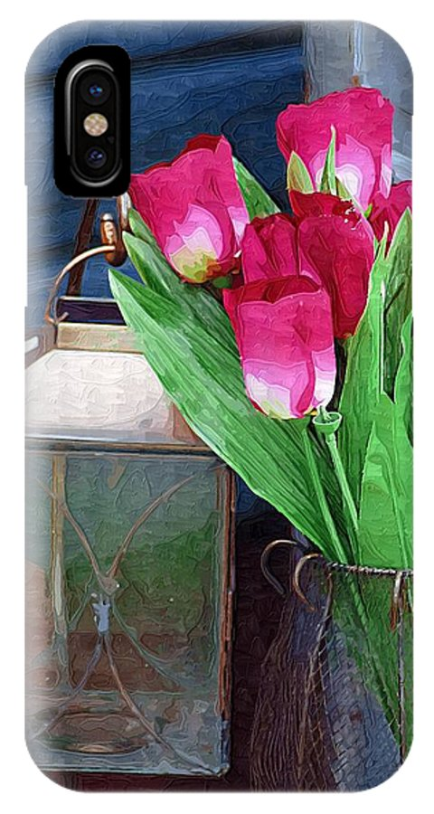 Tulips IPhone X Case featuring the photograph Pink Tulips by Donna Bentley