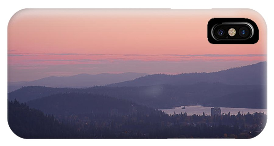 Pink IPhone X Case featuring the photograph Pink Twilight by Idaho Scenic Images Linda Lantzy